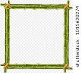 green bamboo steam frame... | Shutterstock .eps vector #1015620274