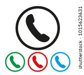 telephone receiver vector icon. ... | Shutterstock .eps vector #1015623631