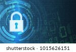 cybersecurity and information... | Shutterstock .eps vector #1015626151