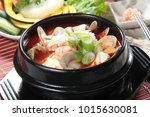 soup or broth cuisine | Shutterstock . vector #1015630081