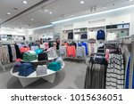 the clothing market is selling...   Shutterstock . vector #1015636051