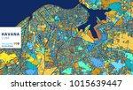 havana   cuba  colorful vector... | Shutterstock .eps vector #1015639447