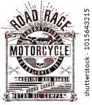 vintage motorcycle t shirt... | Shutterstock .eps vector #1015643215