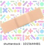 various pastel colors strips of ... | Shutterstock . vector #1015644481