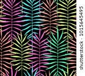 tropical leaves  jungle pattern.... | Shutterstock .eps vector #1015645495