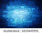 2d illustration technology... | Shutterstock . vector #1015645591