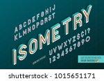 isometric alphabet. 3d letters... | Shutterstock .eps vector #1015651171