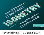 isometric alphabet. 3d letters... | Shutterstock .eps vector #1015651174
