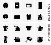 kitchen appliances icons | Shutterstock .eps vector #1015657879