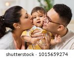 family  parenthood and people...   Shutterstock . vector #1015659274