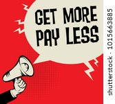 megaphone hand business concept ... | Shutterstock .eps vector #1015663885