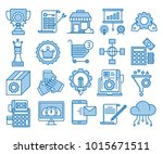 glyph icons set of search... | Shutterstock .eps vector #1015671511