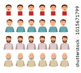 man emotion face collection  ... | Shutterstock .eps vector #1015671799