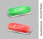 start and stop large buttons... | Shutterstock .eps vector #1015679461