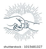 concept of male friendship  for ... | Shutterstock . vector #1015681327