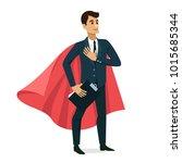 businessman happy character... | Shutterstock .eps vector #1015685344