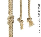 Cotton Ropes With Knot Isolated ...