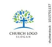 church logo modern vector... | Shutterstock .eps vector #1015701157