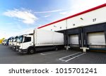 loading of lorries at the... | Shutterstock . vector #1015701241