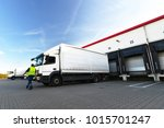 logistics and goods storage  ... | Shutterstock . vector #1015701247