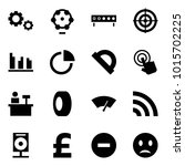 origami style icon set   gears... | Shutterstock .eps vector #1015702225