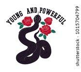 snake and rose vector... | Shutterstock .eps vector #1015704799