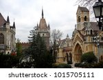 budapest  hungary castle and... | Shutterstock . vector #1015705111