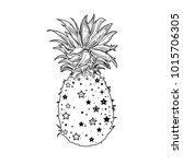 pineapple  a tropical fruit.... | Shutterstock .eps vector #1015706305