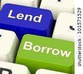 lend and borrow keys shows... | Shutterstock . vector #101571529