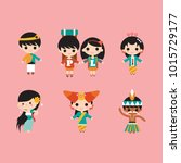 indonesia traditional costume | Shutterstock .eps vector #1015729177