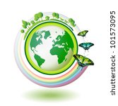eco earth  green and blue with... | Shutterstock . vector #101573095
