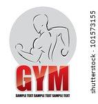 bodybuilding label   vector... | Shutterstock .eps vector #101573155