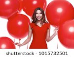 beautiful sexy brunette woman... | Shutterstock . vector #1015732501