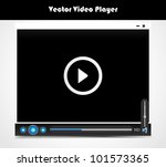 vector audio video player for... | Shutterstock .eps vector #101573365