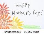 """happy mother's day "" written... | Shutterstock . vector #101574085"