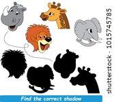 african animals beautiful... | Shutterstock .eps vector #1015745785