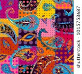 pattern based on decorative... | Shutterstock .eps vector #1015753687