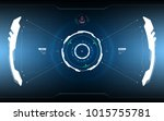 sci fi futuristic hud dashboard ... | Shutterstock .eps vector #1015755781