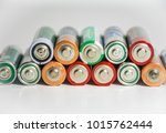 stack of batteries powering the ... | Shutterstock . vector #1015762444