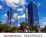 city center towers complex in... | Shutterstock . vector #1015764121