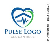 home care and pulse heart logo... | Shutterstock .eps vector #1015765624