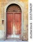 Old Italian Antique Door In...