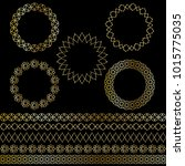 golden moroccan frames and... | Shutterstock .eps vector #1015775035