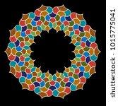moroccan ornate tile circle... | Shutterstock .eps vector #1015775041