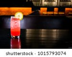 a glass of sea breeze cocktail | Shutterstock . vector #1015793074