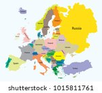 map of europe   the proportion... | Shutterstock .eps vector #1015811761