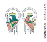 king and queen illustration | Shutterstock .eps vector #1015812571