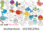 underwater animals to be... | Shutterstock .eps vector #1015812961