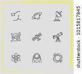 astronomy line icon set...   Shutterstock .eps vector #1015817845