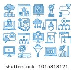 glyph icons set of search... | Shutterstock .eps vector #1015818121